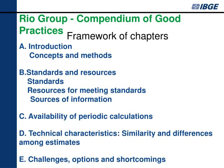 Rio Group - Compendium of Good Practices
