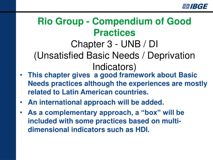 This chapter gives  a good framework about Basic Needs practices although the experiences are mostly related to Latin American countries.
