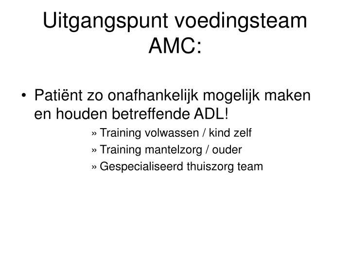 Uitgangspunt voedingsteam AMC: