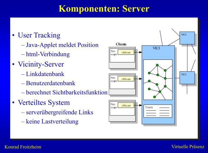 Komponenten: Server