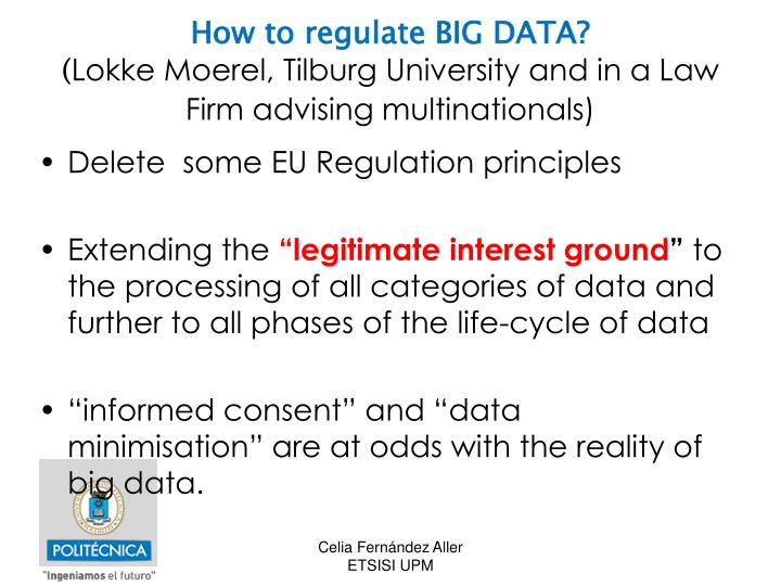 How to regulate BIG DATA?
