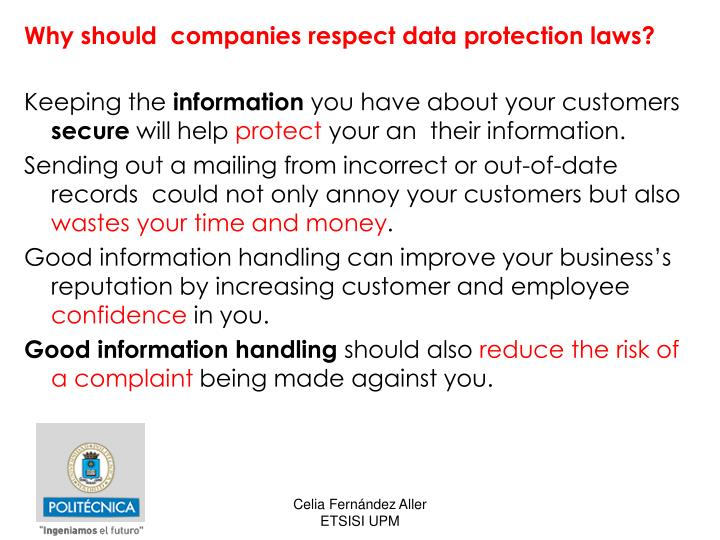 Why should  companies respect data protection laws?