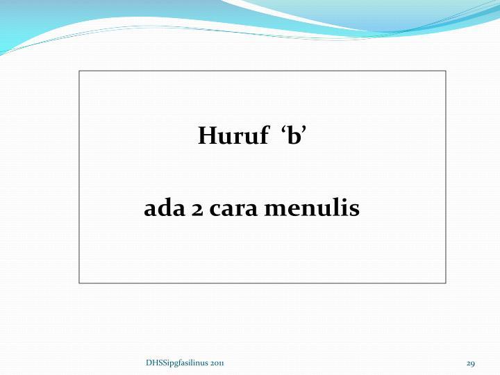 Huruf  'b'