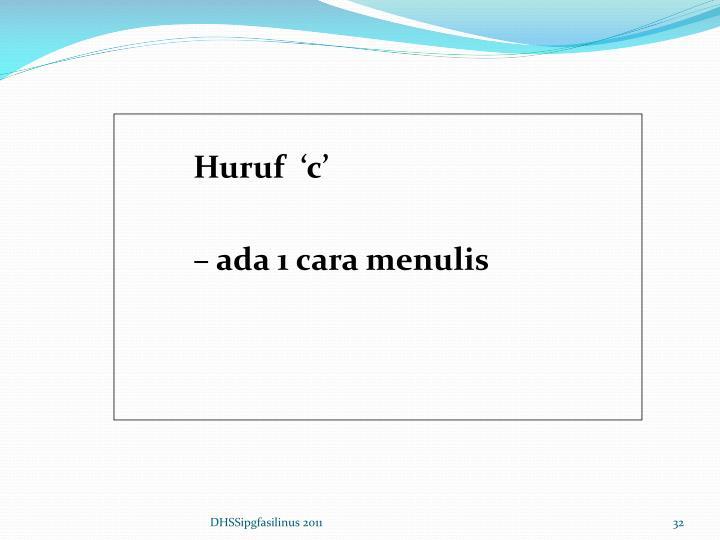 Huruf  'c'
