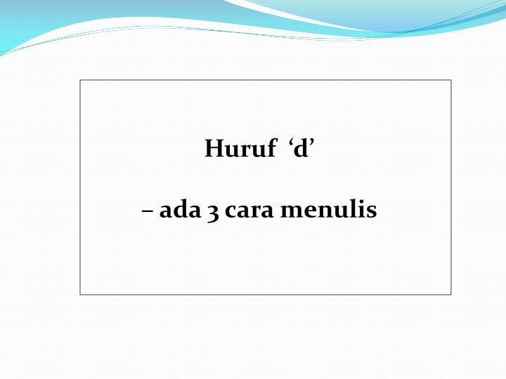 Huruf  'd'