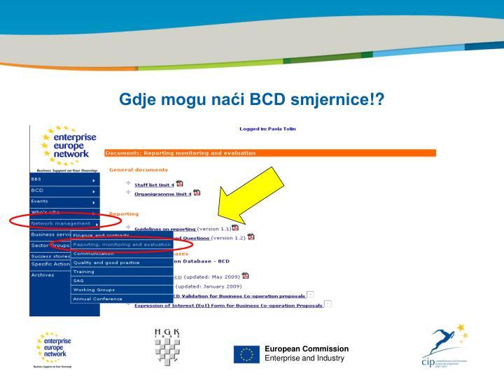 Gdje mogu naći BCD smjernice