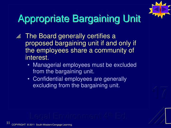 Appropriate Bargaining Unit