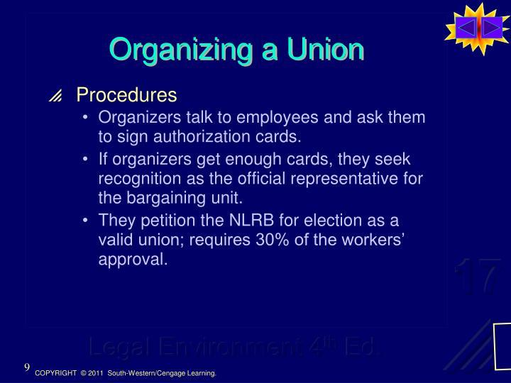 Organizing a Union