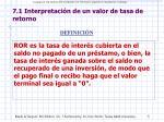 7 1 interpretaci n de un valor de tasa de retorno1