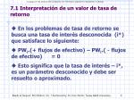 7 1 interpretaci n de un valor de tasa de retorno2