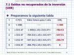 7 1 saldos no recuperados de la inversi n uib