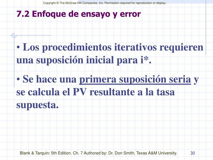 7.2 Enfoque de ensayo y error