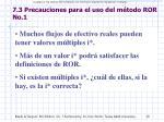 7 3 precauciones para el uso del m todo ror no 1
