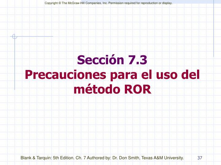 Sección 7.3