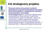 cel strategiczny projektu