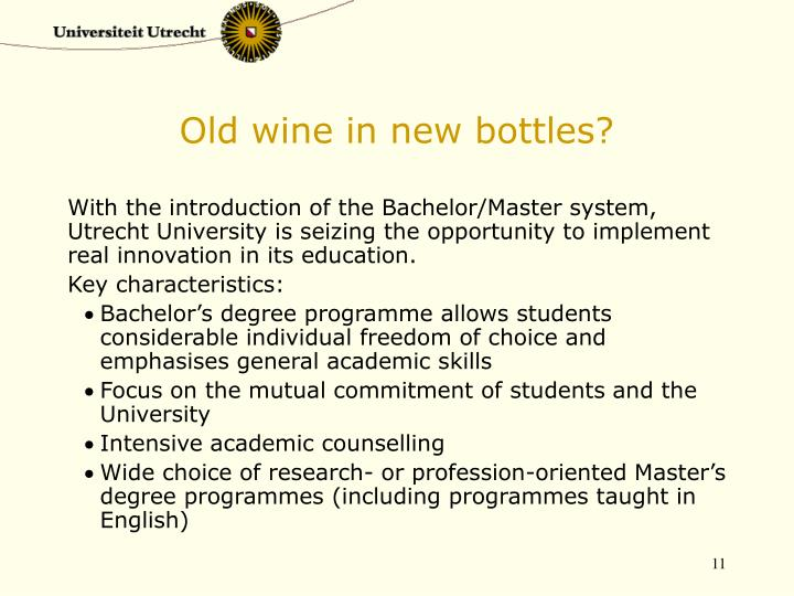 Old wine in new bottles?