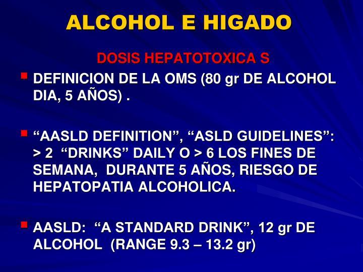 ALCOHOL E HIGADO