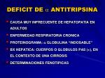 deficit de antitripsina