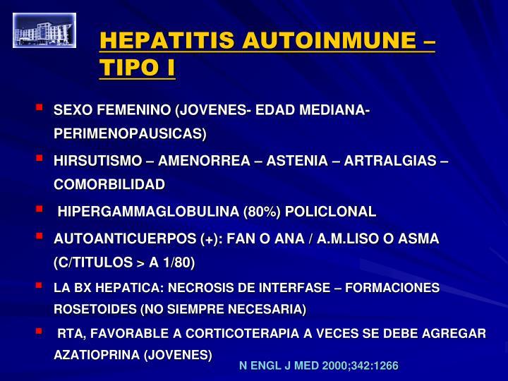 HEPATITIS AUTOINMUNE – TIPO I