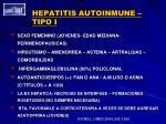 hepatitis autoinmune tipo i