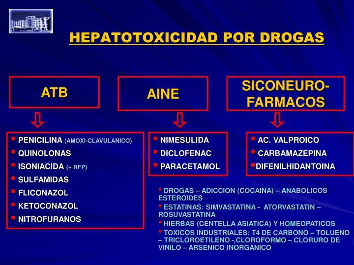 HEPATOTOXICIDAD POR DROGAS