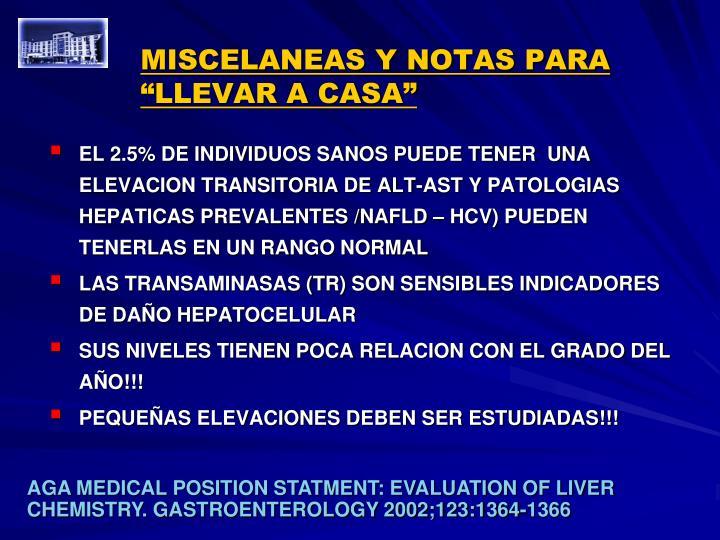 """MISCELANEAS Y NOTAS PARA """"LLEVAR A CASA"""""""