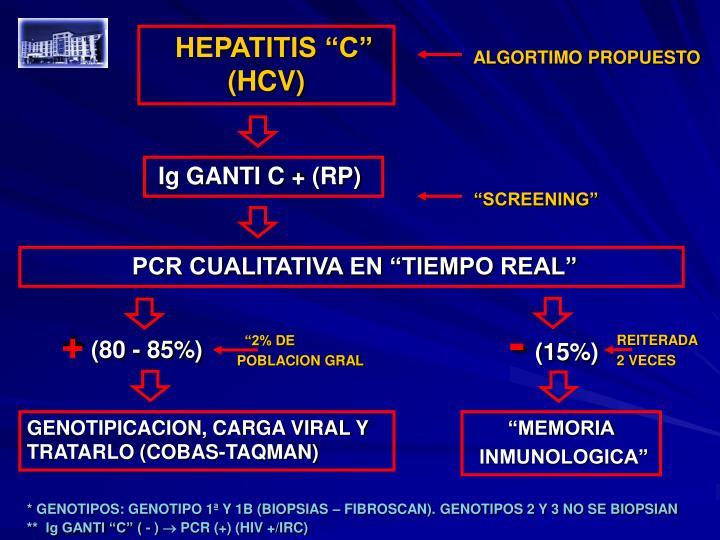 """HEPATITIS """"C"""" (HCV)"""