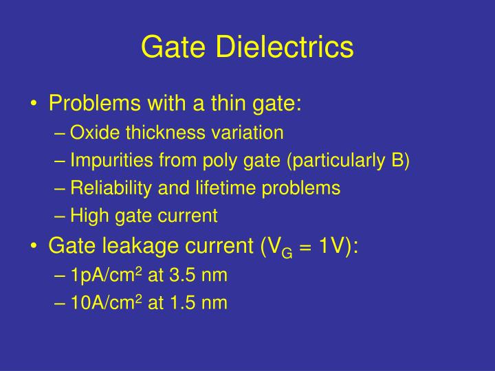Gate Dielectrics