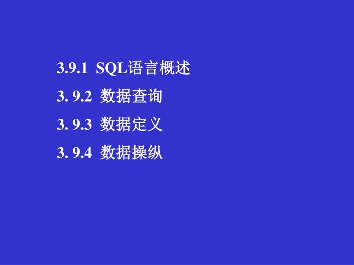 3.9.1  SQL