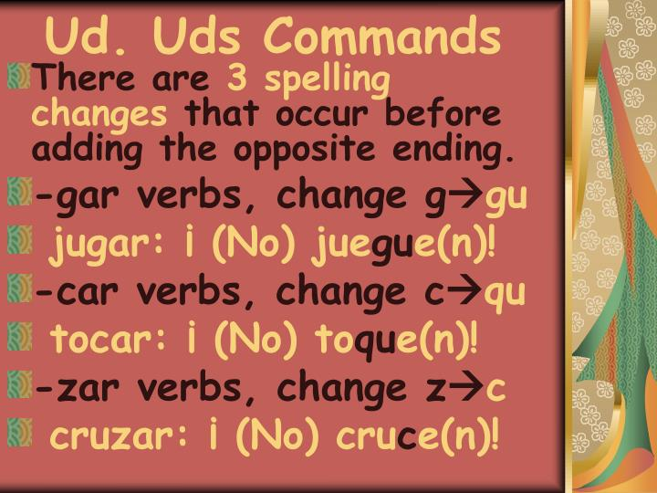 Ud. Uds Commands