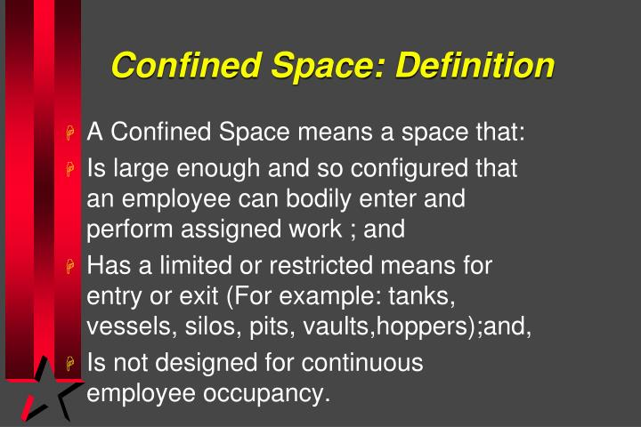 Confined space definition