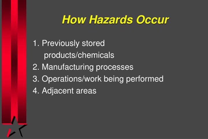 How Hazards Occur