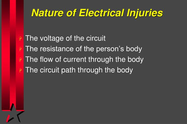Nature of Electrical Injuries