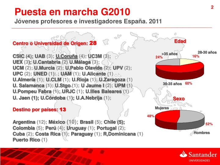 Puesta en marcha G2010