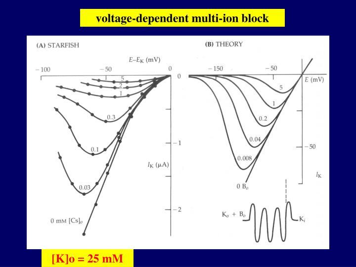 voltage-dependent multi-ion block