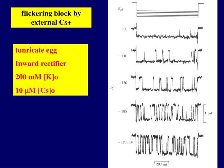 flickering block by external Cs+
