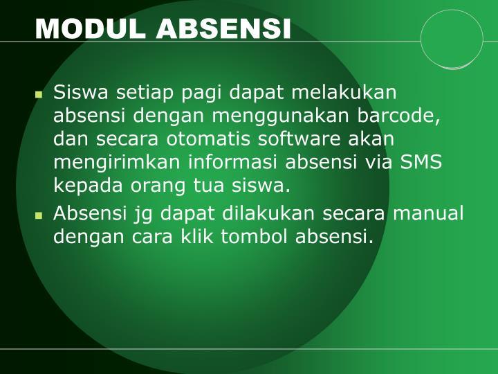 MODUL ABSENSI