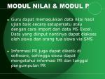 modul nilai modul pr