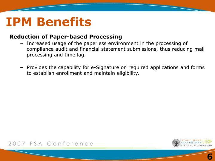 IPM Benefits