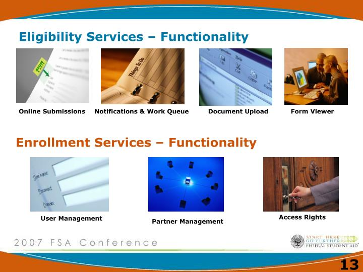 Eligibility Services – Functionality