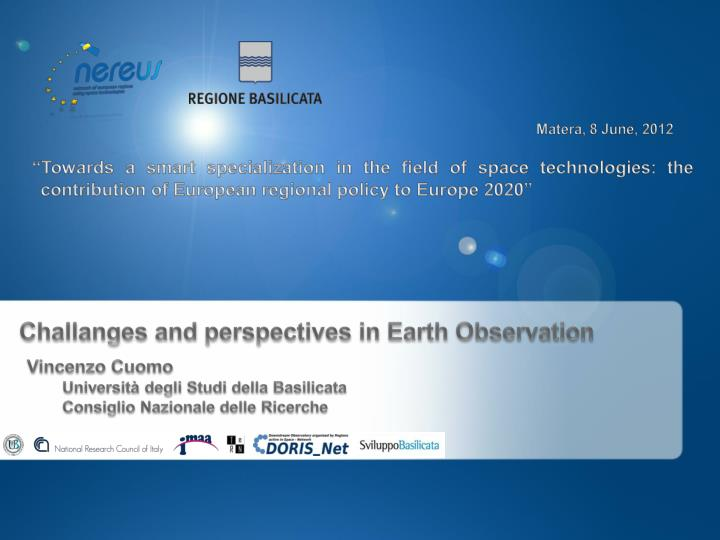 challanges and perspectives in earth observation