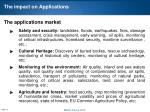 the impact on applications