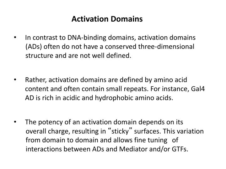 Activation Domains
