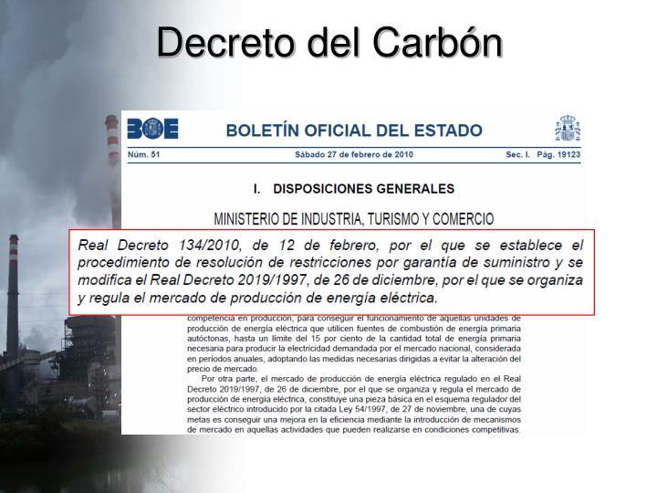 Decreto del Carbón