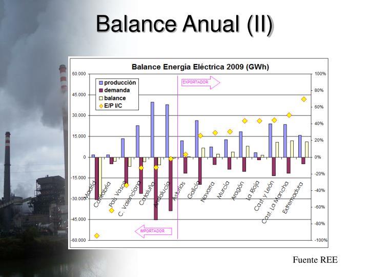 Balance Anual (II)
