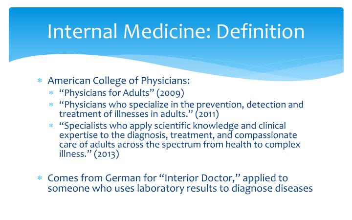 Internal Medicine: Definition