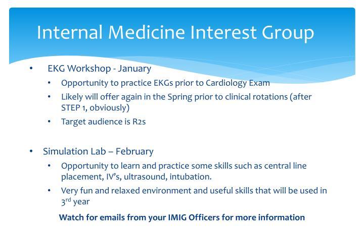 Internal Medicine Interest Group