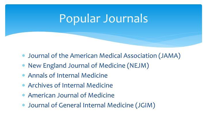 Popular Journals