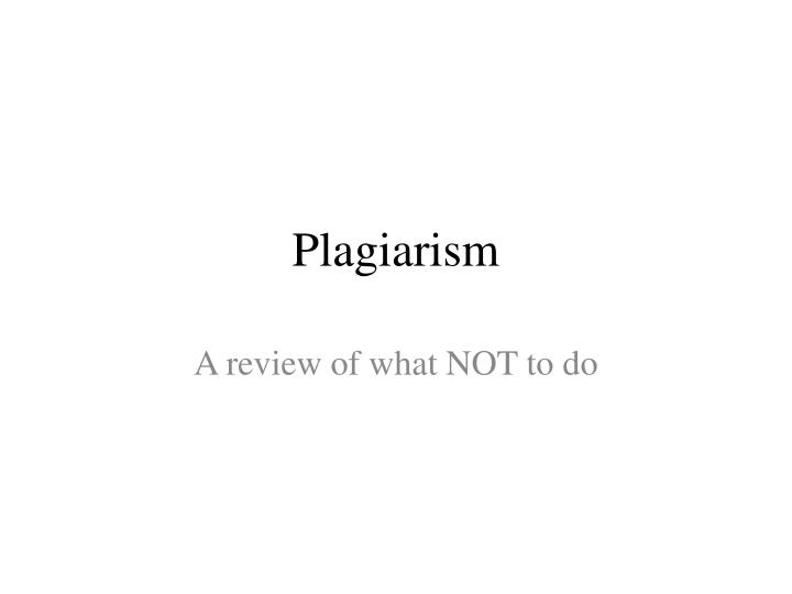 the definition of the plagiarism as evidenced by the role of mustapha marrouchi