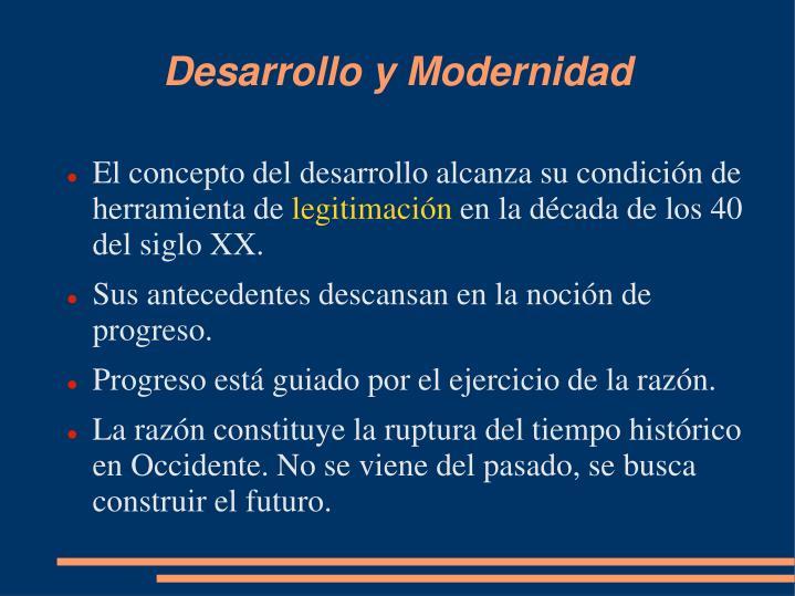 Desarrollo y Modernidad